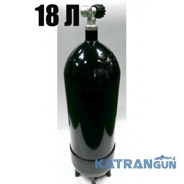 Баллон для дайвинга Eurocylinder 18 л 232 Bar, чёрный