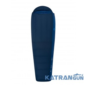 Пуховый спальный мешок Sea To Summit Trek TkIII Regular Navy/Denim