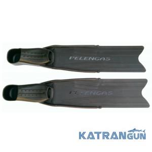Ласты подводная охота Pelengas Black, пластиковые, средняя жёсткость