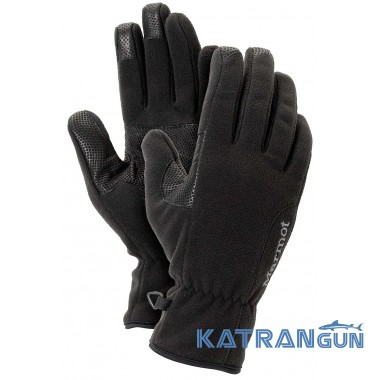 Перчатки с мембраной Marmot Women's Windstopper Glove, Black