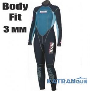 Жіночий гідрокостюм для дайвінгу Seac Sub Body Fit 3 мм