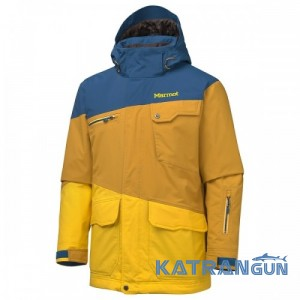Подовжена чоловіча куртка Marmot Space Walk Jacket, Blue Ink/Gold Copper/Deep yellow