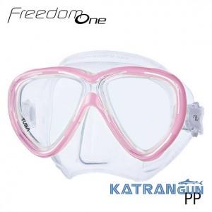 Маска для дайвінгу Tusa Freedom One clear/pink