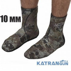 Носки для подводной охоты Marlin Anatomic Camo Grey; 10 мм