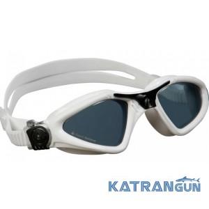 Очки для плавания Aqua Sphere Kayenne; белые, линзы темные