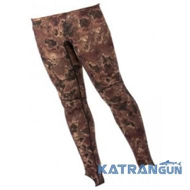 Лайкровые камуфляжные штаны Mares Rash Guard Camo Brown
