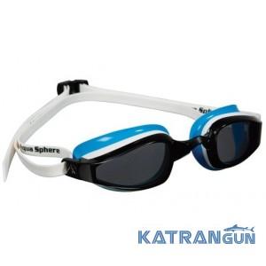 Окуляри для плавання жіночі Michael Phelps K180 Lady; біло-блакитні, лінзи темні