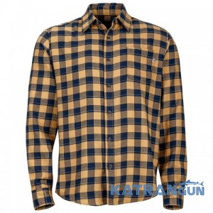 Рубашка мужская из ткани COOLMAX Marmot Mens Bodega Flannel LS, Chamois
