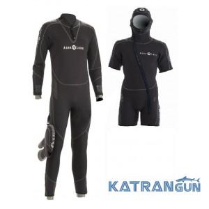 Гидрокостюм мужской для дайвинга Aqua Lung Balance Comfort 7mm (SET) с капюшоном