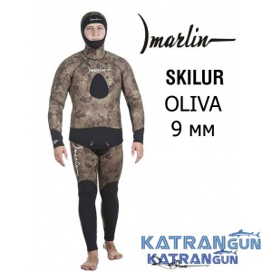 Зимний гидрокостюм для подводной охоты Marlin Skilur Oliva 2.0; толщина 9 мм