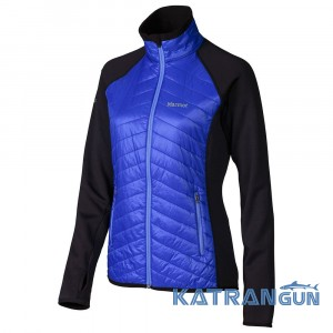 Уникальная гибридная куртка Marmot Wm's Variant Jacket, Gemstone/Black