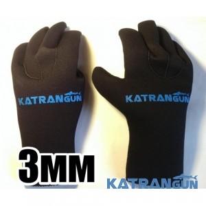 Перчатки для подводной охоты KatranGun Hunter 3 мм; нейлон/нейлон