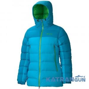 Многофункциональный пуховик Marmot Women's Mountain Down Jacket, Blue Sea/Mosaic Blue