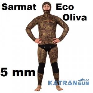 Гидрокостюм Marlin Sarmat Eco Oliva 5 мм