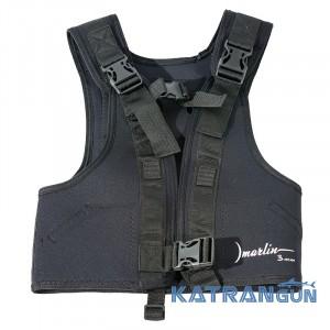 Вантажний жилет для підводного полювання Marlin Balance Black 5 мм; 4 кишені на спині + 2 бокові кишені