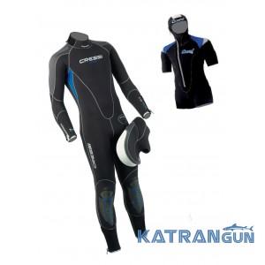 Чоловічий гідрокостюм для плавання Cressi Sub Lontra 5 мм (set)
