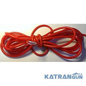 Латексные трубки для слингов, бандажей в бухтах BS Diver (на метраж), 9мм на 5мм, красная
