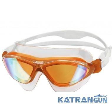 Очки маска для плавания Head Jaguar LSR + зеркальное покрытие