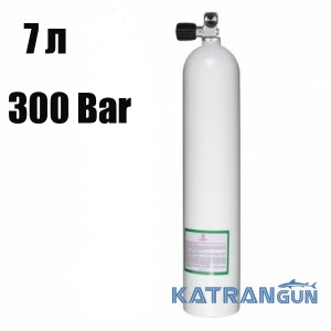 Балон для дайвінгу BTS; 7 л; 300 Bar