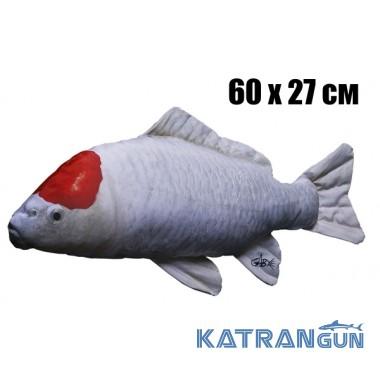Подушка-іграшка Короп-Кої; біло-червоний (60х27 см)