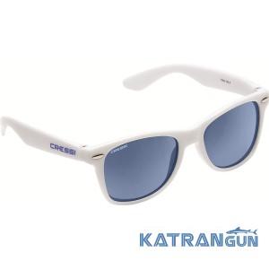 Детские солнцезащитные очки Cressi Sub Maka; бело-синие