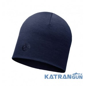 Теплая шерстяная шапка Buff Heavyweight Merino Wool Hat solid denim