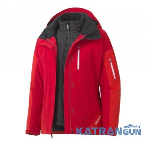 Универсальная куртка 2 в 1 Marmot Wm's Tamarack Component Jacket, Team Red/Rocket Red