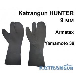 Рукавиці для підводного полювання зимові Katrangun Hunter Armatex Yamamoto 39; 9 мм