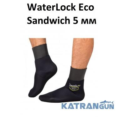 Неопреновые носки для подводной охоты Marlin WaterLock Eco Sandwich 5 мм
