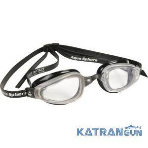 Стартовые мужские очки Michael Phelps K180; серебристо-черные