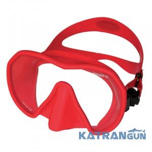 Снорклинг маска Beuchat Maxlux S; червона