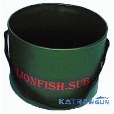 Складное ведро для прикормки KatranGun (от LionFish) 8 л, 1 ручка