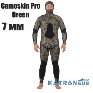 Гідрокостюм підводного мисливця Marlin Camoskin Pro Green 7 мм
