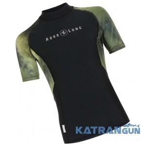 Чоловічий рашгард для плавання AquaLung Galaxy Camo, короткі рукава