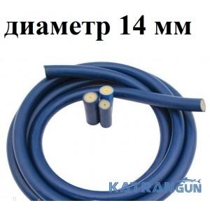 Тяги на арбалет в бухтах Prime Line (на метраж); 14 мм; прозрачная в синей оболочке