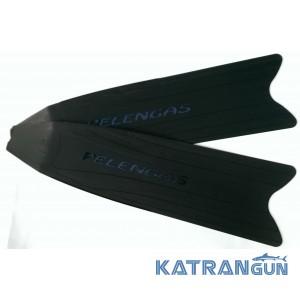 Лопасти для ласт Pelengas Black, пластиковые, средняя жесткость