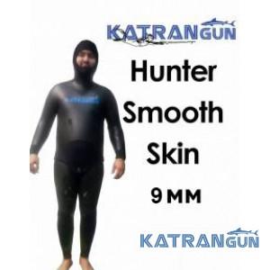 Гідрокостюм для підводного полювання взимку KatranGun Hunter SmoothSkin 9 мм; короткі штани