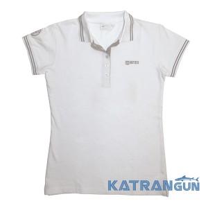 Женская поло футболка для дайвера Mares Team, белая