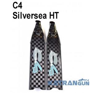 Карбоновые ласты для подводной охоты и фридайвинга C4 Silversea HT