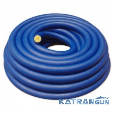Латексная тяга BS Diver 16 мм; прозрачный натуральный латекс в синем чулке