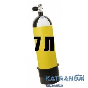Дайверский баллон Eurocylinder, 7 литров, 300 Bar, желтый