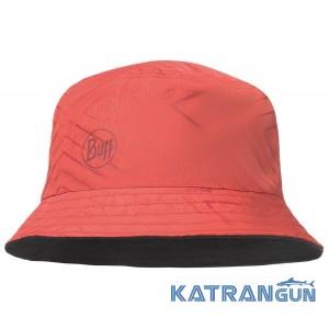 Жіноча двостороння панама BUFF Travel Bucket Hat Collage Red-Black