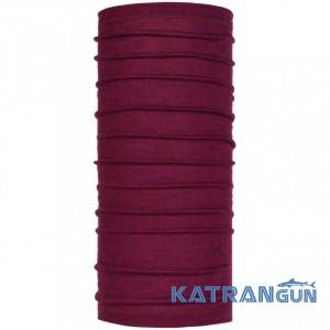 Бафф из натуральной шерсти Buff Lightweight Merino Wool siggy purple raspberry