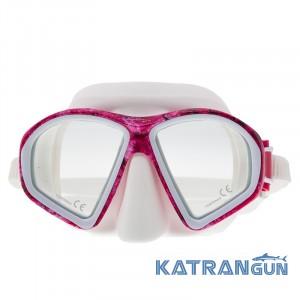 Универсальная маска плавательная Marlin Matte; розовая