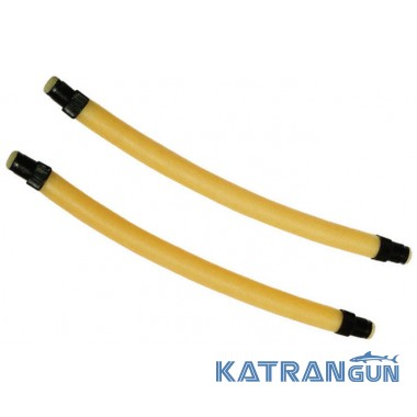 Гумові арбалетні тяги Beuchat парні, прозорі, 16 мм, довжина 13 см