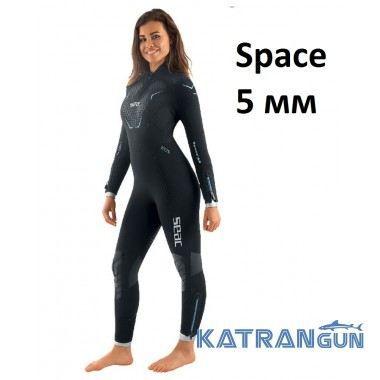 Гідрокостюм жіночий для дайвінгу Seac Sub Space 5 мм