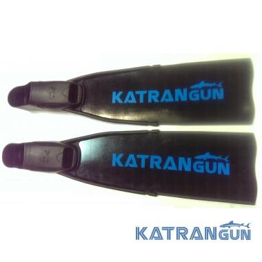 Ласты для подводной охоты стеклопластик KatranGun Black, в калошах BS Diver