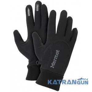 Перчатки для туризма Marmot Women's Power Stretch Glove, Black
