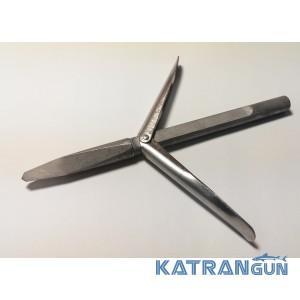 Наконечник стрелы подводного ружья Kalkan Блатной, удлинённое основание, два флажка