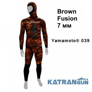 Гидрокостюм для фридайвинга и подводной охоты Epsealon Brown Fusion 7/5 мм